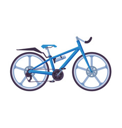 road bicycle ecological sport transport blue vector image