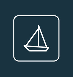 Sailboat outline symbol premium quality isolated vector