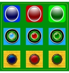 Set of buttons vector image