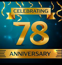 seventy eight years anniversary celebration design vector image