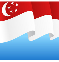 Singapore flag wavy abstract background vector
