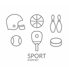 Sport Icon set Outline vector