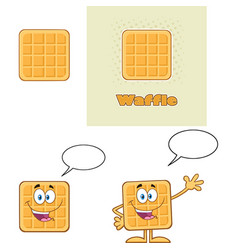 square waffle character set 1 collection vector image