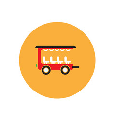 Stylish icon in color circle trailer car vector