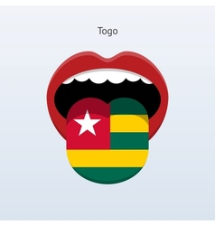 Togo language abstract human tongue vector