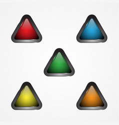 triangle button vector image