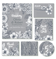 Wedding collection templates for vector
