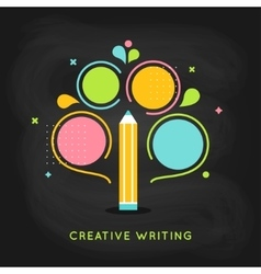 Creative Writing Plan Infographics Template on vector image vector image