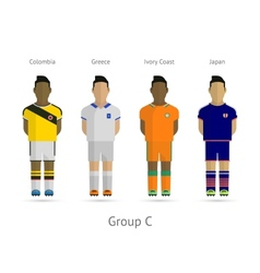 Football teams Group C - Colombia Greece Ivory vector image vector image