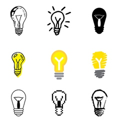 Icons lamp vector