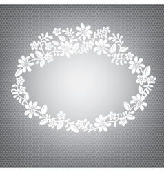 lace white frame vector image