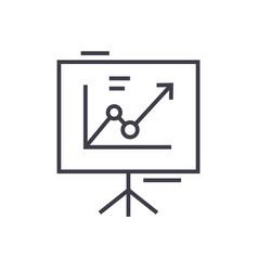 presentation boardflip chart line icon vector image