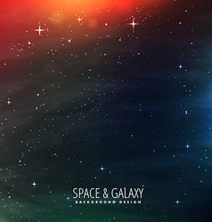 space with stars and colorful lights vector image