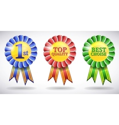 award medals vector image vector image