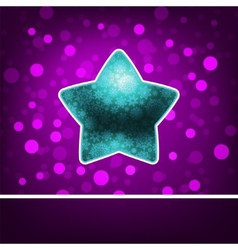 Blue star on fiolet abstract Happy New Year EPS 8 vector image vector image