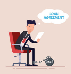 businessman or manager sits on an office chair and vector image vector image