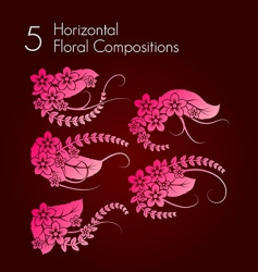 floral compositions vector image