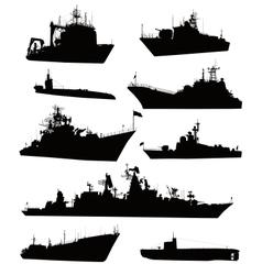 Naval set vector image vector image
