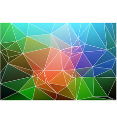 Pink green blue geometric background with mesh vector