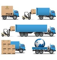 Shipment Trucks Icons Set 2 vector image vector image