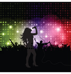 singer performing vector image vector image