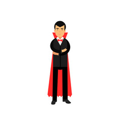 vampire character posing with folded hands count vector image