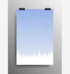 white snow falling blue background winter vector image
