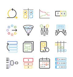 Agile icon set vector