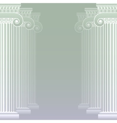 Classical greek or roman columns vector image