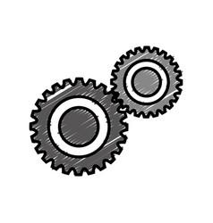 Cog wheel icon vector