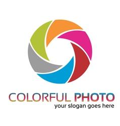 Colorful foto logo vector image