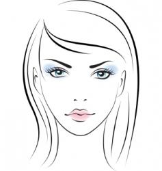 female portrait vector image vector image