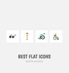 flat icon handicapped set of stand handicapped vector image vector image