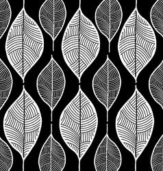 leaf sketch doodle set 1 black vector image