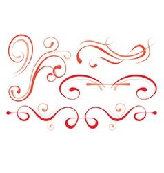set of elements for design decorative borders vector image