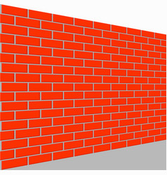 wall brick perspective view vector image vector image