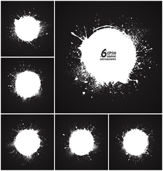 6 abstract round grunge backgrounds vector image vector image