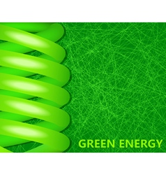 ecological lightbulbs on a green background vector image vector image