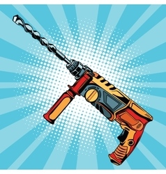 Electric hammer drill is a professional tool for vector image vector image