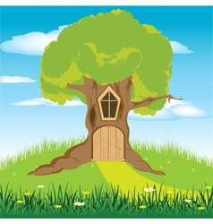 House in tree vector image