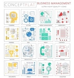 Infographics mini concept Business management vector image vector image