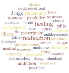 medication vector image