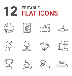 12 eps icons vector image