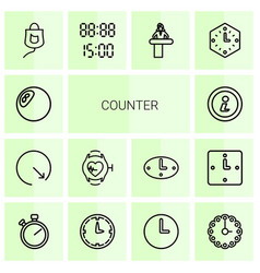 14 counter icons vector