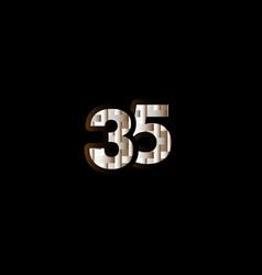 35 years anniversary celebration elegant black vector
