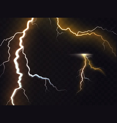 3d realistic of thunderbolt vector image