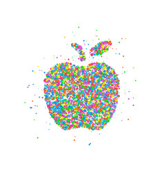 abstract apple splash vector image