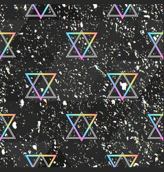 Abstract holographic seamless pattern with grunge vector