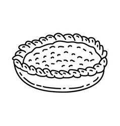 Apple pie icon doodle hand drawn or outline icon vector