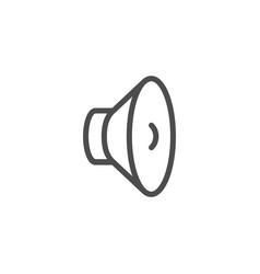 audio speaker line icon vector image